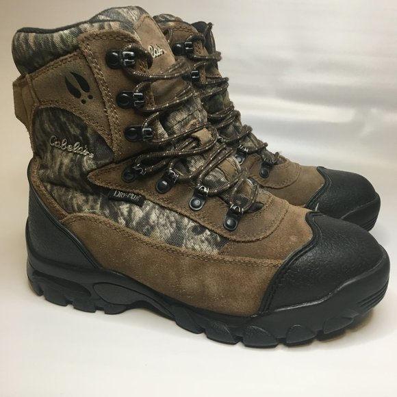 Kids Camo Brown Hiking Hunting Boots Sz